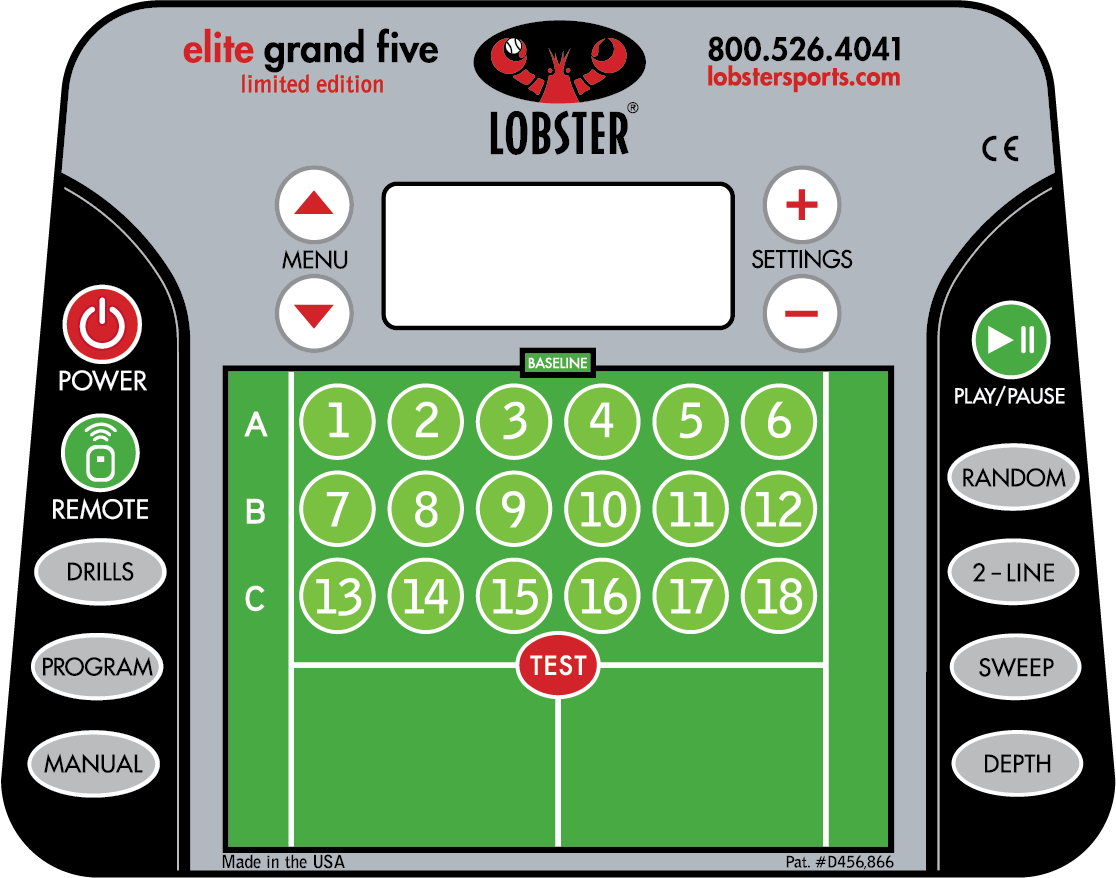 Elite Grand Five Limited Edition Lobster Elite Ball Machine